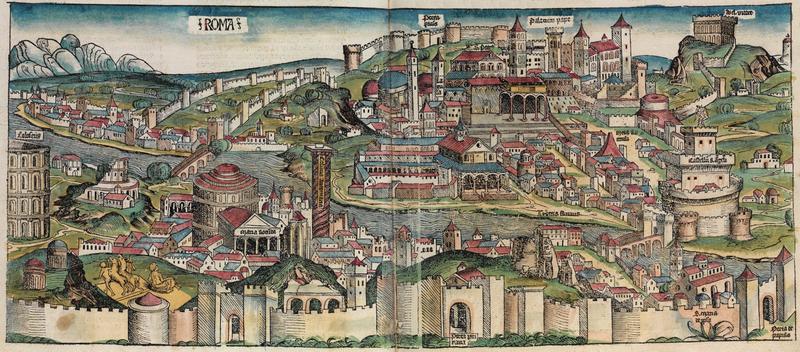 Hartmann Schedel  Nuova Pianta di Roma 1490