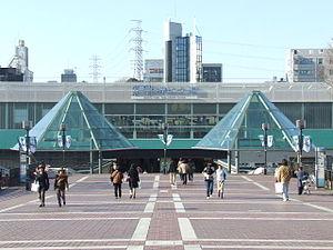 Tama New Town - Tama-Center Station, served by Keio Sagamihara Line, Odakyu Tama Line and Tama Toshi Monorail