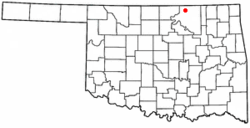 Location of Foraker, Oklahoma