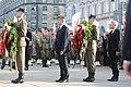 Obchody 7 rocznicy katastrofy smoleńskiej Wieńce składane przez marszałków Sejmu i Senatu.jpg