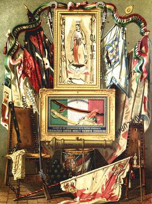 """Cry of Dolores - Image extracted from the book by Vicente Riva Palacio, Julio Zárate (1880) """"México a través de los siglos"""" Tomo III: """"La guerra de independencia"""" (1808 - 1821)"""