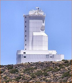 The VTT at the Teide Observatory, Tenerife.