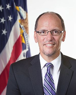 Tom Perez - Image: Official portrait of United States Secretary of Labor Tom Perez