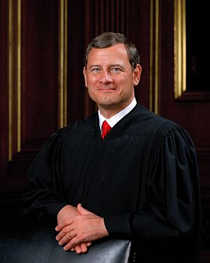National Federation of Independent Business v. Sebelius - Chief Justice John Roberts wrote the majority opinion nominally upholding the Affordable Care Act but overturning a key provision.