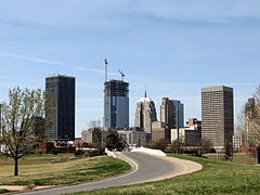 Oklahomacity downtown skyline