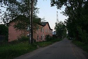 Okulovka (town), Novgorod Oblast - A street in Okulovka