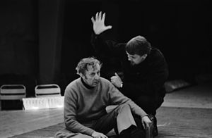Olavi Ahonen - Olavi Ahonen (left) at rehearsals of The Robbers in 1970, directed by Kalle Holmberg.