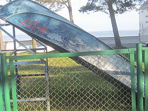 Old Blue boat in Nida.JPG
