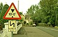 Old and new road signs at Dunadry - geograph.org.uk - 1093497.jpg