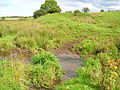 Old quarry and ford over the Powgree Burn at Spiers.JPG