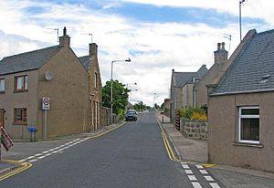 Oldmeldrum - Oldmeldrum residential street