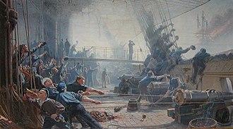 Christian Mølsted - Image: Ombord på frigatten Niels Juel cropped