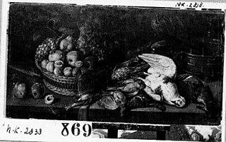 Stilleven met vruchten en dood gevogelte