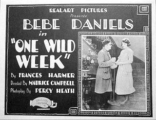 <i>One Wild Week</i> 1921 film