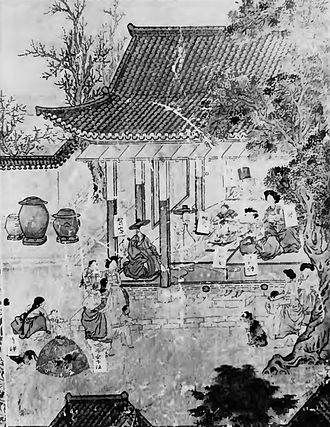 Onggi - The earliest known painted representations of onggi ware from 1781, in a scene on the panel of A Pictorial Biography of Hong Yi-san, exhibitied at the National Museum of Korea.