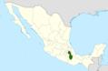 Opuntia huajuapensis range map.png