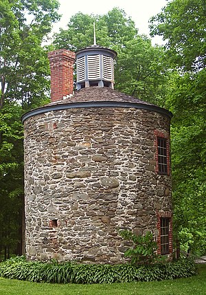 Orange Mill Historic District - The main powder mill building, on Powder Mill Road