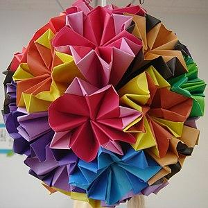 Modular origami - A kusudama, the traditional Japanese precursor to modular origami