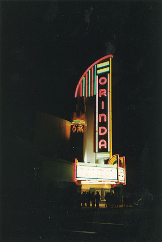Orinda, California - The Orinda Theatre at night