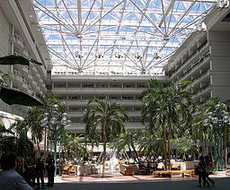 Orlando international airport atrium