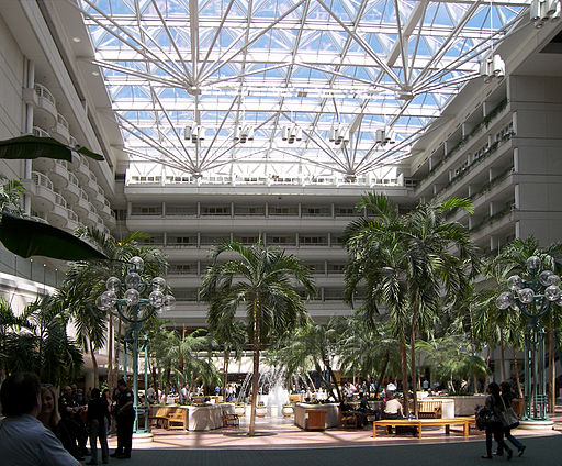 Orlando international airport atrium
