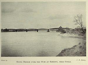 Thomas Elliot Harrison - Image: Ouse railway swing bridge, nr. Skelton Goole