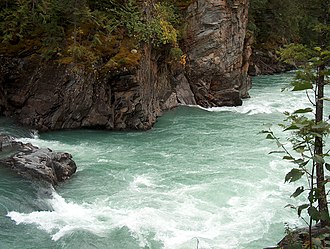 River ecosystem - Rapids in Mount Robson Provincial Park