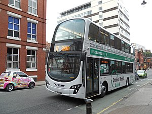 Bullocks Coaches - Oxford Road Link Wright Eclipse Gemini 2 bodied Volvo B5L in August 2011