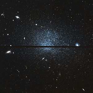 Sculptor Dwarf Irregular Galaxy - Sculptor Dwarf Irregular Galaxy close up by Hubble Space Telescope