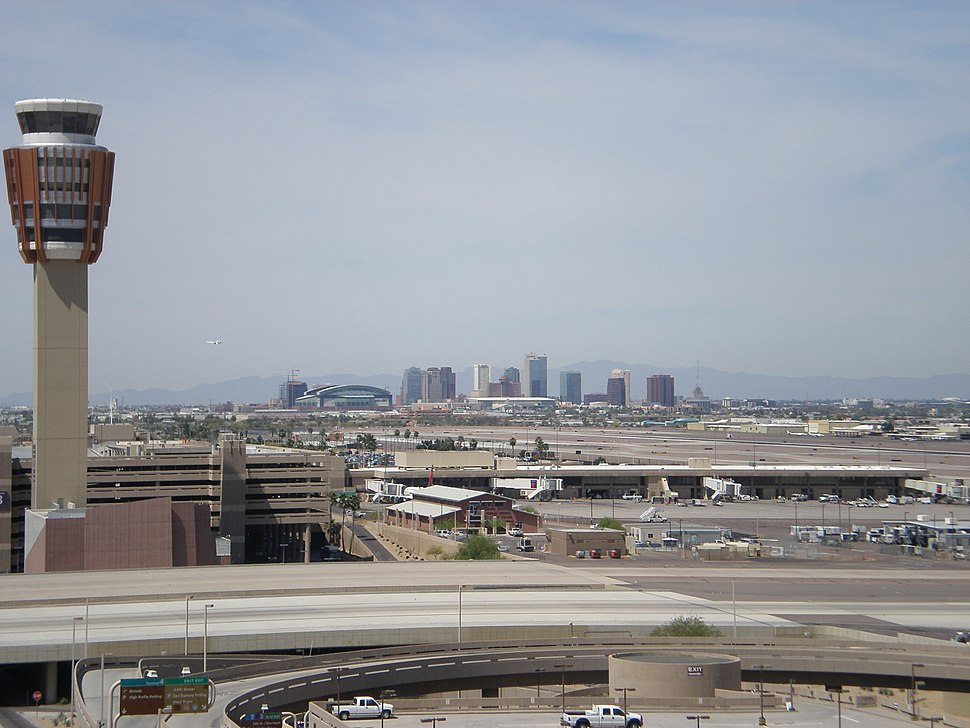 PHX tower with downtown