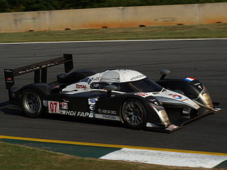 Stéphane Sarrazin - Sarrazin driving the Peugeot 908 HDi FAP at the 2008 Petit Le Mans.