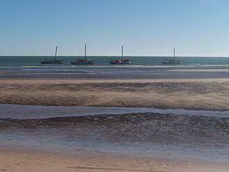 Banc d'Arguin National Park - Fishing boats at Banc d'Arguin
