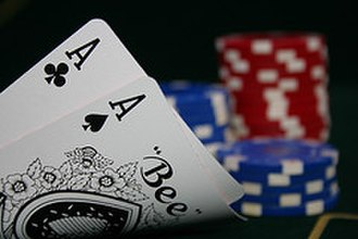Texas hold 'em - A pair of aces is statistically the best hand to be dealt in Texas Hold'em Poker.