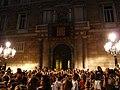 Palau de la Generalitat - Arribada de la xambanga de gegants P1160566.JPG