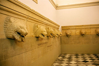Himera - Rainwater spouts from the temple roof (Palermo museum)