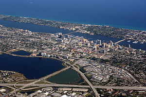 West Palm Beach, looking northeast
