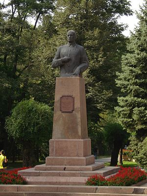 Ivan Panfilov - Panfilov's bust in Almaty.