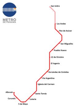 Panama metro map