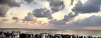 Panambur Beach - Clouds over the beach