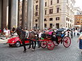 Pantheon in Rome - wedding carriage 2009.JPG
