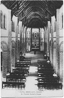 Papal seminary Kandy Francis Sint Xavier´s chapel.jpg