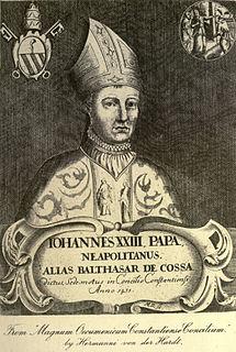 Antipope John XXIII Italian bishop; Pisan antipope (1410–1415)