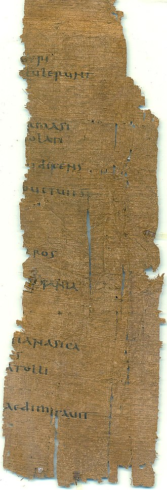 Ab Urbe Condita Libri - Fragment of P. Oxy. 668, with Epitome of Livy XLVII–XLVIII