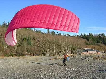 Land-based practice: Kiting Paraglider Golden Gardens 07.jpg
