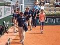 Paris-FR-75-open de tennis-2018-Roland Garros-stade Lenglen-juges en touche en relève-02.jpg