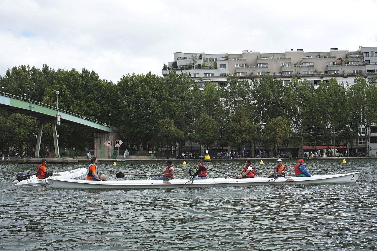 File paris plage 2011 paris plage initiation l 39 aviron sur la base nautique de la - Piscine plage paris asnieres sur seine ...