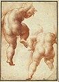 Parmigianino - Etude de deux enfants, volant, de dos, INV 6425, Recto.jpg