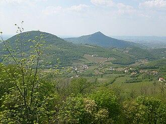 Euganean Hills - Monte Gemola seen from Monte Rusta