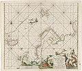 Paskaart van een deel van de Noordelijke IJszee Paskaart van 't Noordelykste deel der Noort Zee beginnende van der Neus tot Nova Zembla (titel op object), RP-P-1896-A-19368-2996.jpg