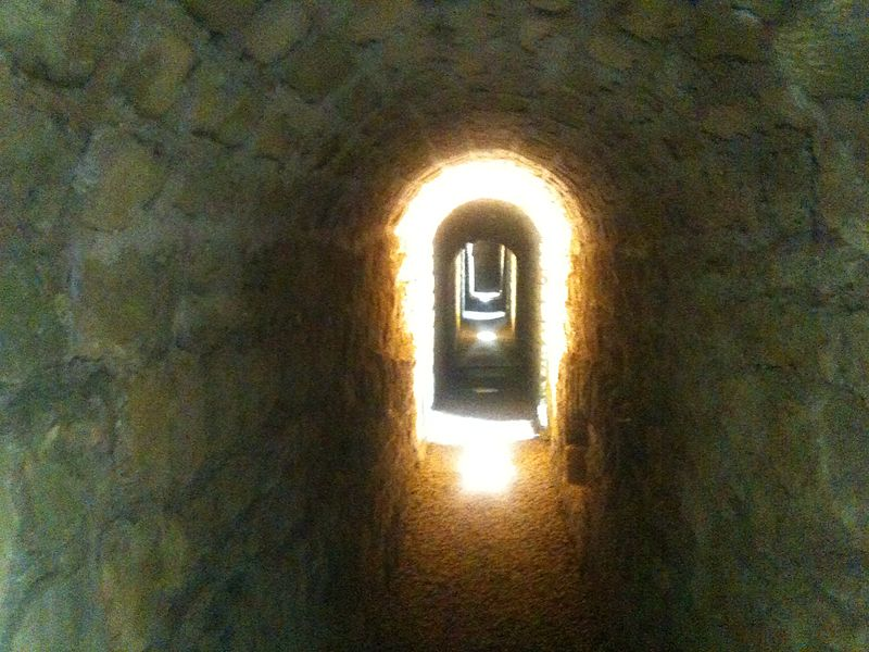 Passage interieur Fort Ayvelles Ardennes France